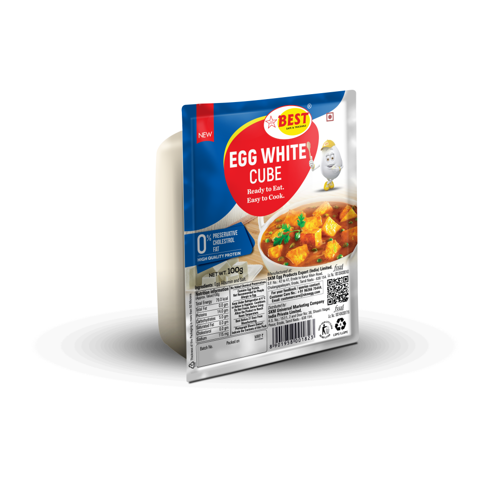 EGG WHITE CUBE - SALT - 100G
